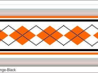 G13 3D Argyle Orange/Black Grill Decal Golf Car Graphic