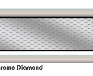 G3 3D 3D Chrome Diamond Golf Car Grill Decal
