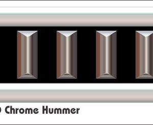 G2 3D Chrome Hummer Golf Car Grill Decal
