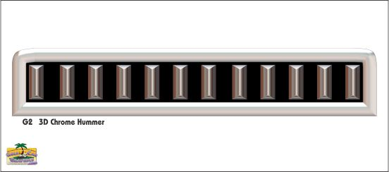 G2 3D Chrome Hummer Grill Decal
