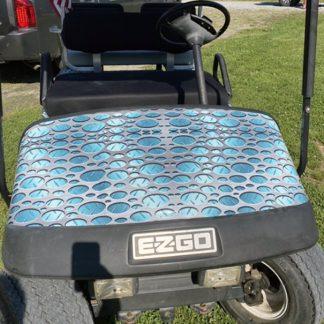 Golf cart wrap Punch Metal Plate Aqua