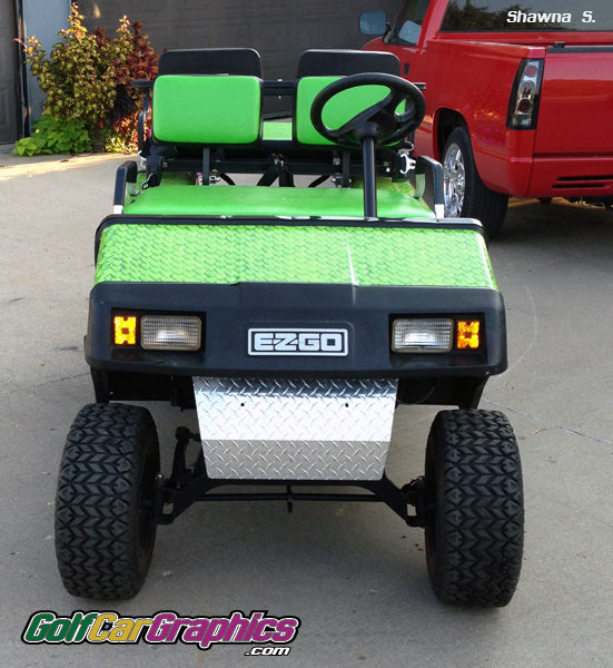 Monster Scales Green cart wrap