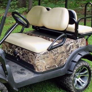 BushWolf-Grassland golf cart wrap camo