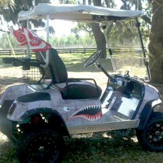 Dirty-Air-Craft-Metal-golf-car-wrap
