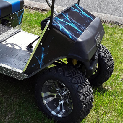 Liquid-web golf cart vinyl wrap kit. Available for all model golf carts. Order yours today!