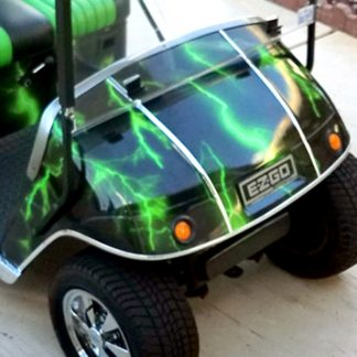 Lightning Green golf cart wrap