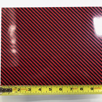 Deep-Red-Black-carbon fiber pattern