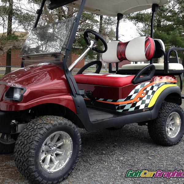 JP checker-golf car decal kit