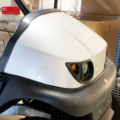 Pearl-White-golf car wrap