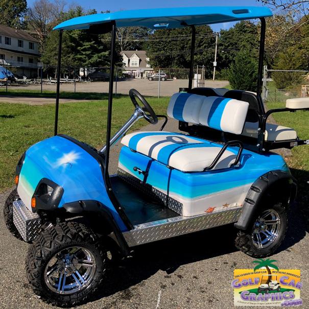 Tropical Beach Golf Car Wrap