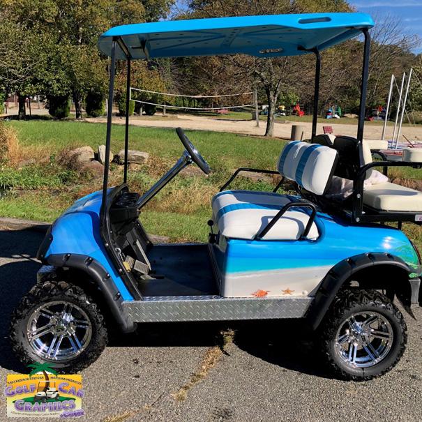 Applying A Wrap To A Golf Cart