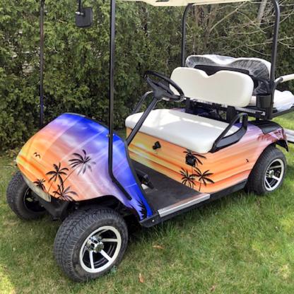 Golf cart wrap kit theme Hawaii-Sunset