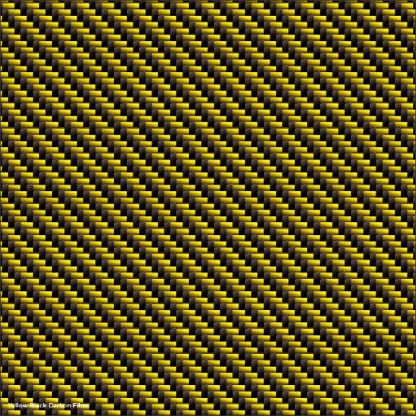 Yellow Black Carbon Fiber golf car wrap