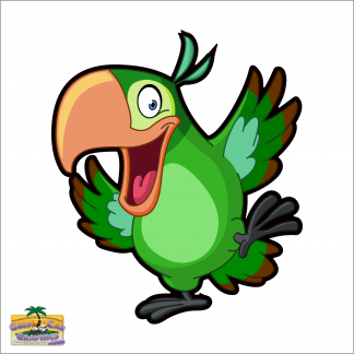 Party Time Parrot golf car decal