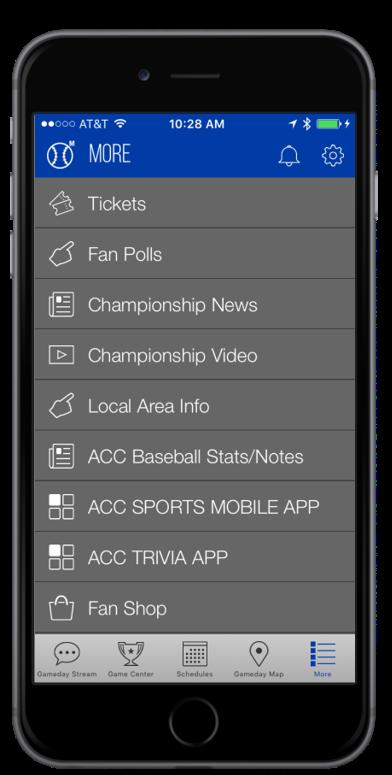 Baseball Championship App - Atlantic Coast Conference