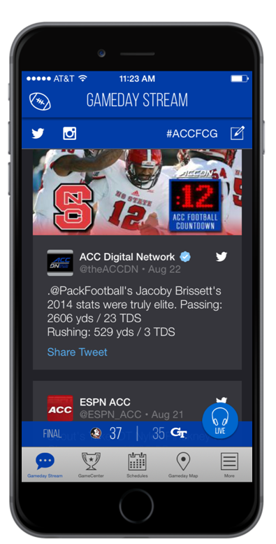 Football Championship App - Atlantic Coast Conference | Official
