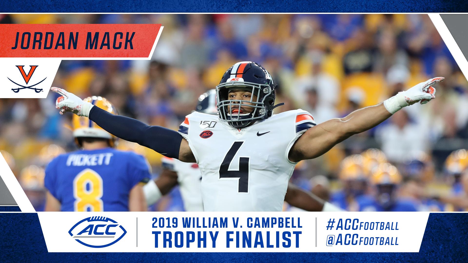 Virginia S Jordan Mack Named Campbell Trophy Finalist