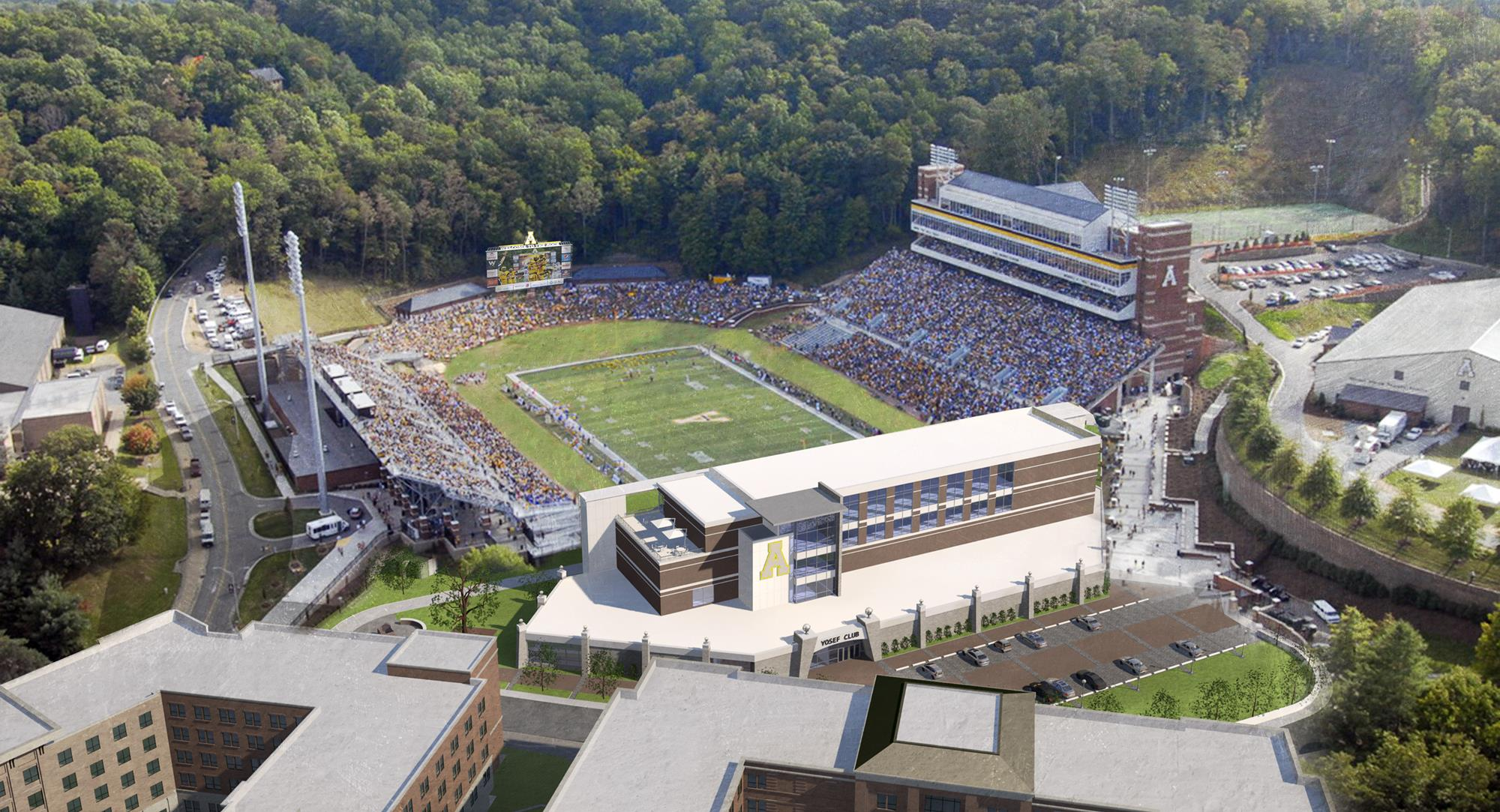 Kidd Brewer Stadium end zone facility rendering