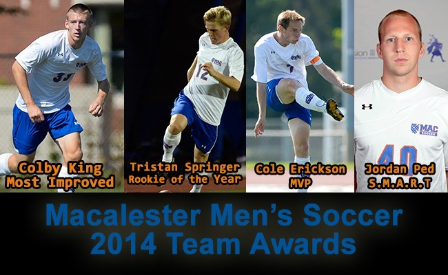 men s soccer macalester hands out awards at annual banquet