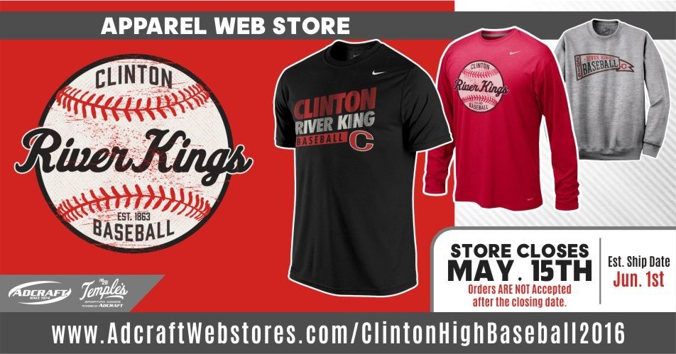 Clinton High School - RIVER KING BASEBALL WEB STORE IS NOW OPEN