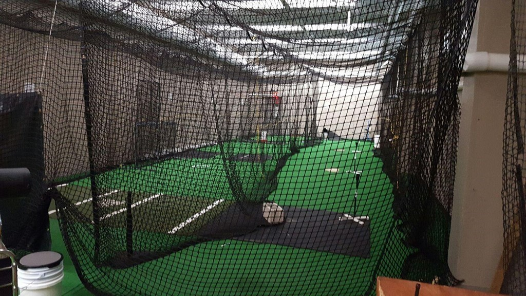 Clinton High School Indoor Batting Cages