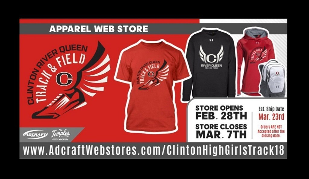 Clinton High School Girls Track Web Store Is Now Open