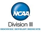NCAA Division III logo - Discover, Develop, Dedicate