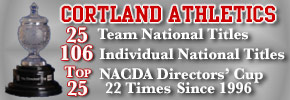 Cortland Athletics - 25 Team National Titles - 106 Individual National Titles - Top 25 NACDA Directors' Cup 22 Times Since 1996