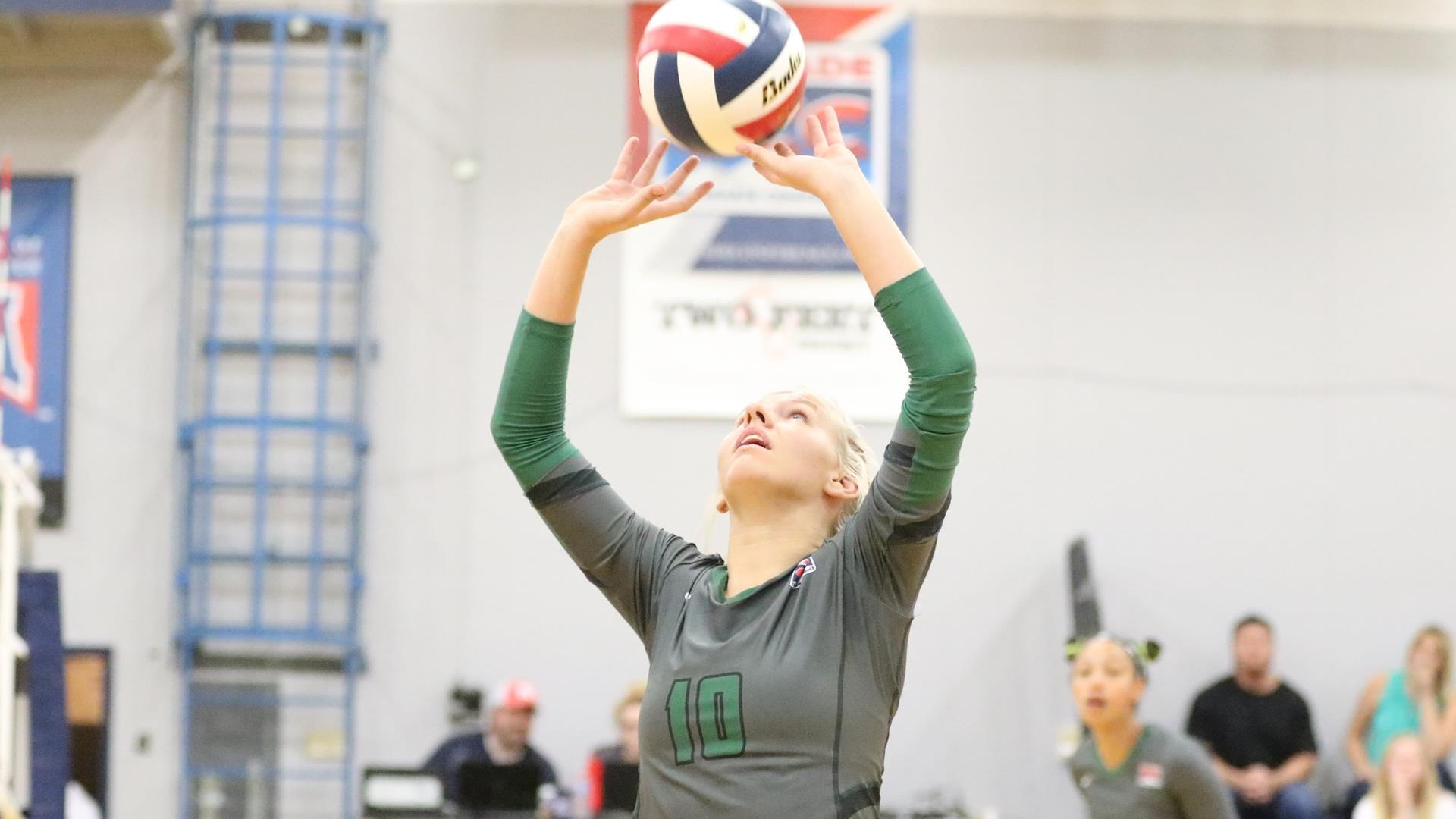 wolff named conference setter of the week evergeen state college