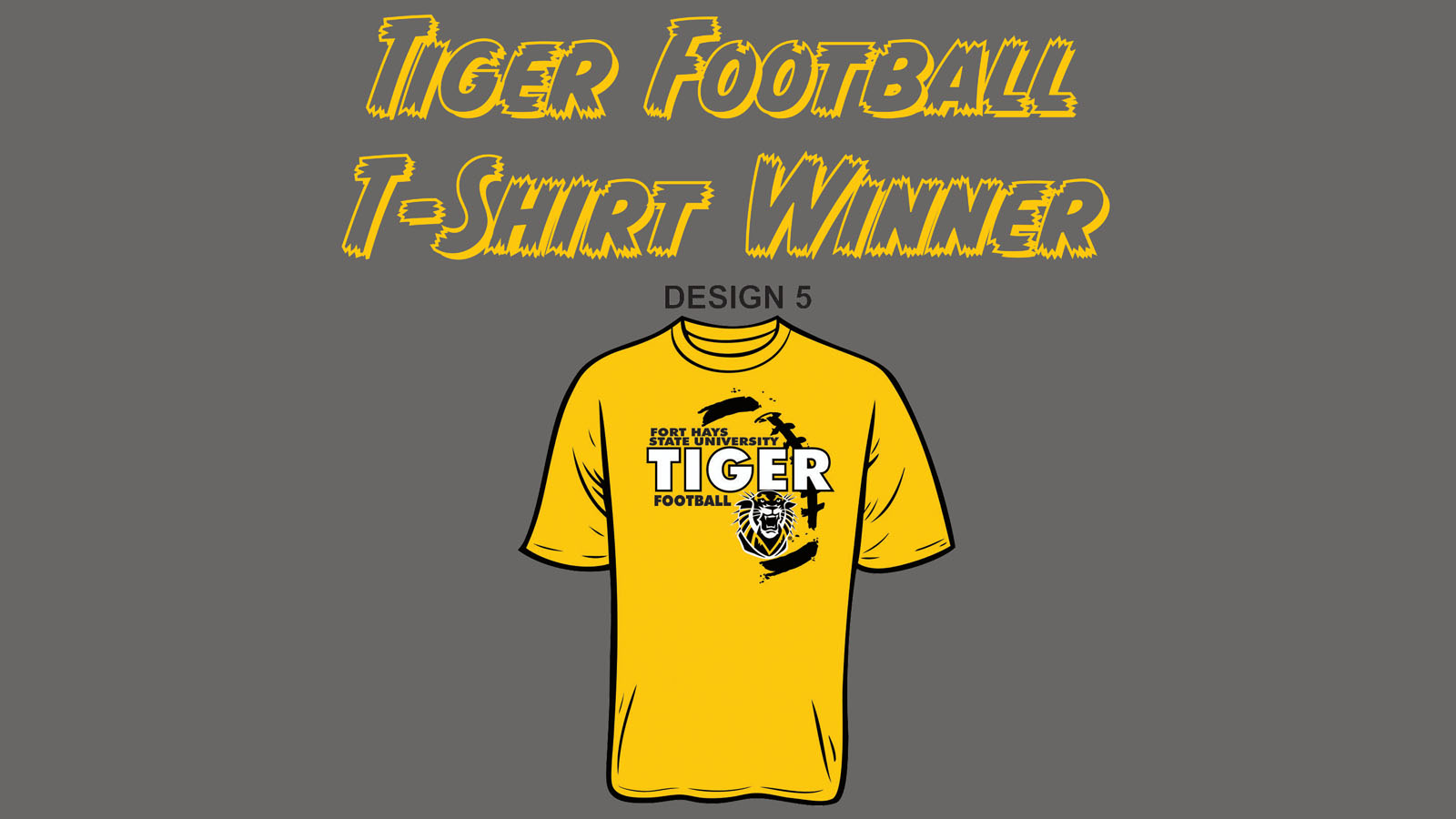 Fans Select Design 5 In 2018 Tiger Football T Shirt Voting Contest