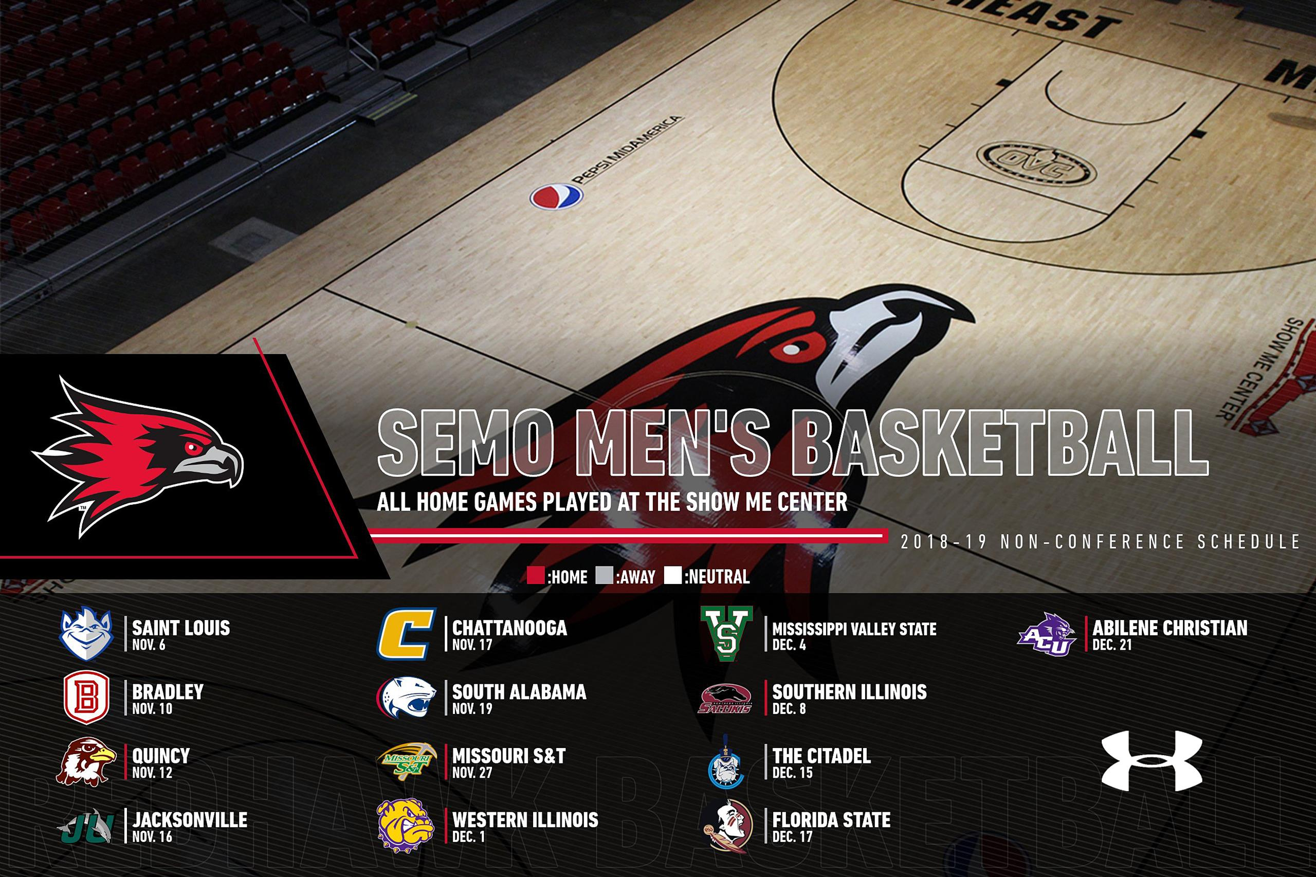 2018-19 Men's Basketball Non-Conference Schedule