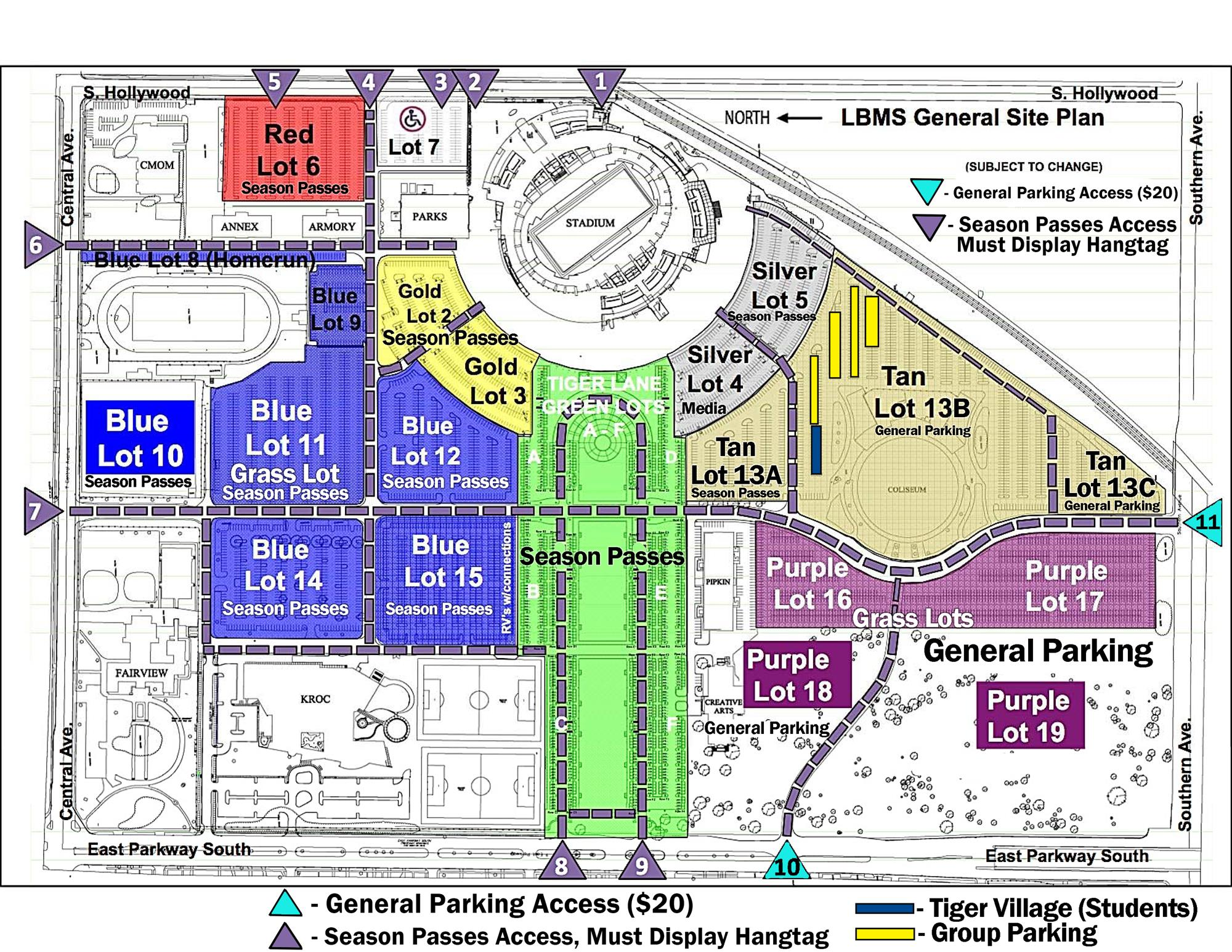Georgia Southern Parking Map University of Memphis Athletics   Get To the Liberty Bowl Early