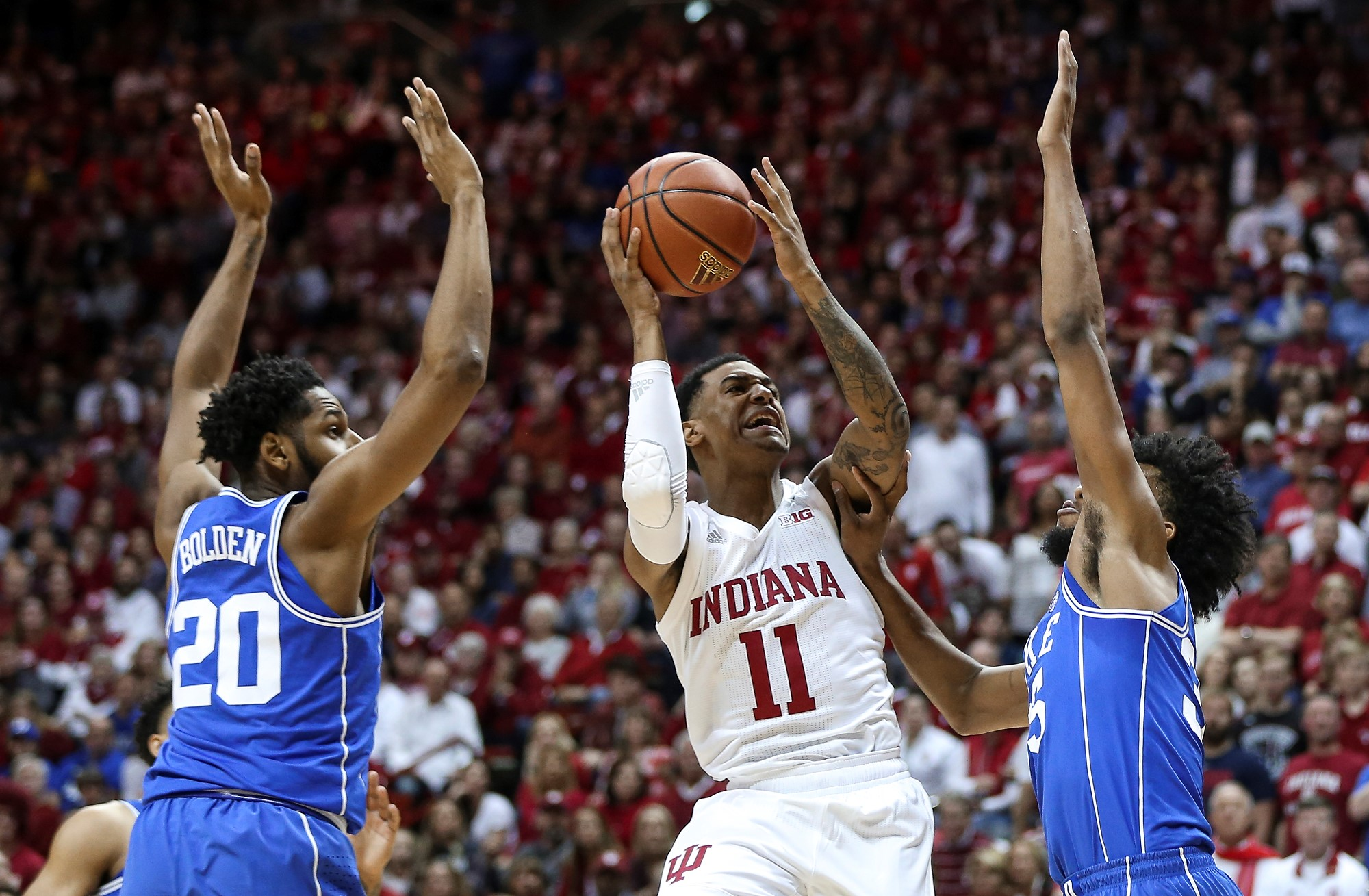 hoosiers to play duke in 2018 big ten/acc challenge - indiana