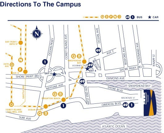 Hostos Campus Map.Directions To The Campus Kingsborough Community College Athletics