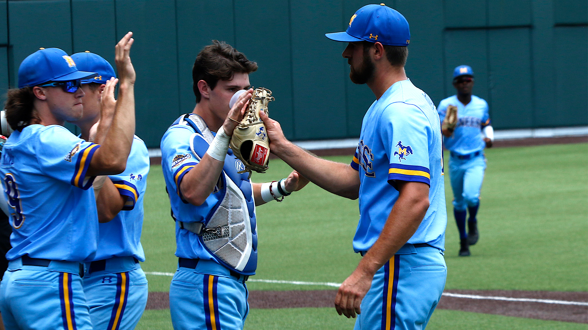 hot sale online b87a4 882c9 LAKE CHARLES – When McNeese starting pitcher Rhett Deaton walked off the  mound in the fifth inning against Ohio State at the NCAA Nashville Regional  back on ...