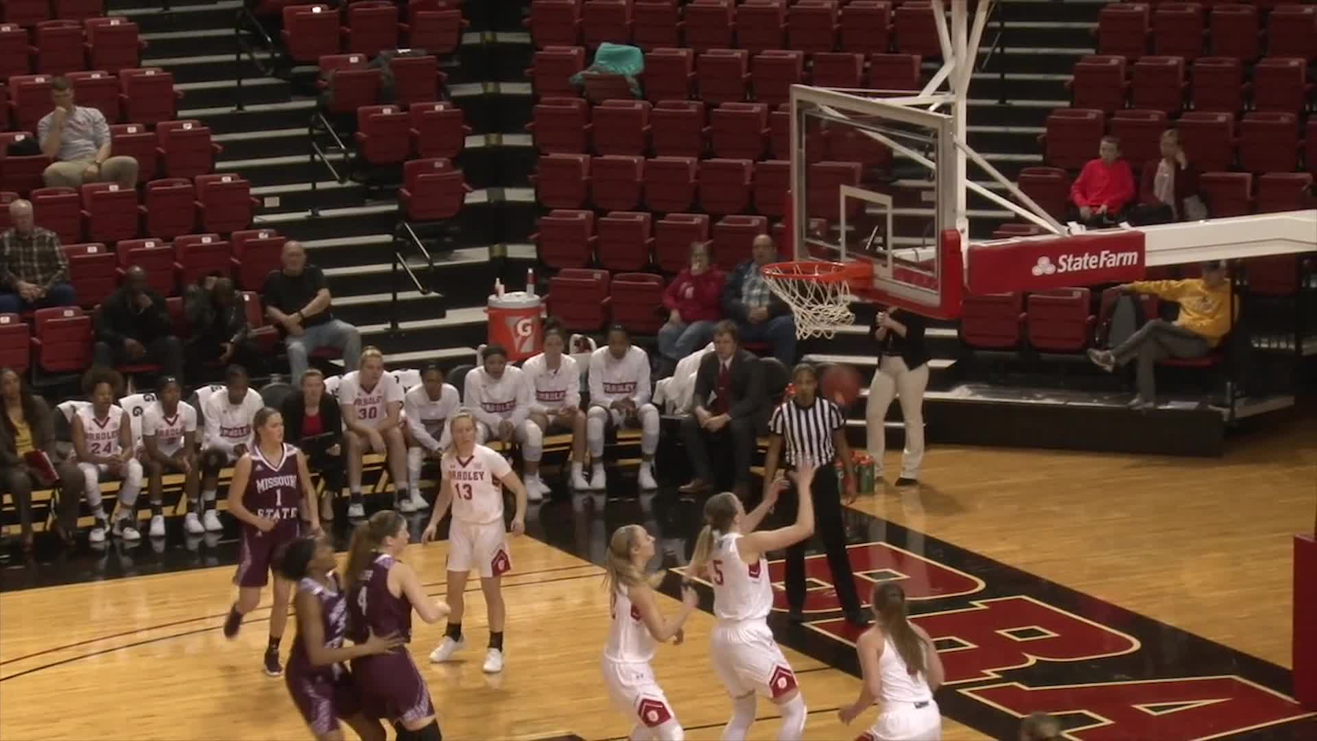 Women's Basketball vs Bradley Highlights (1/18)