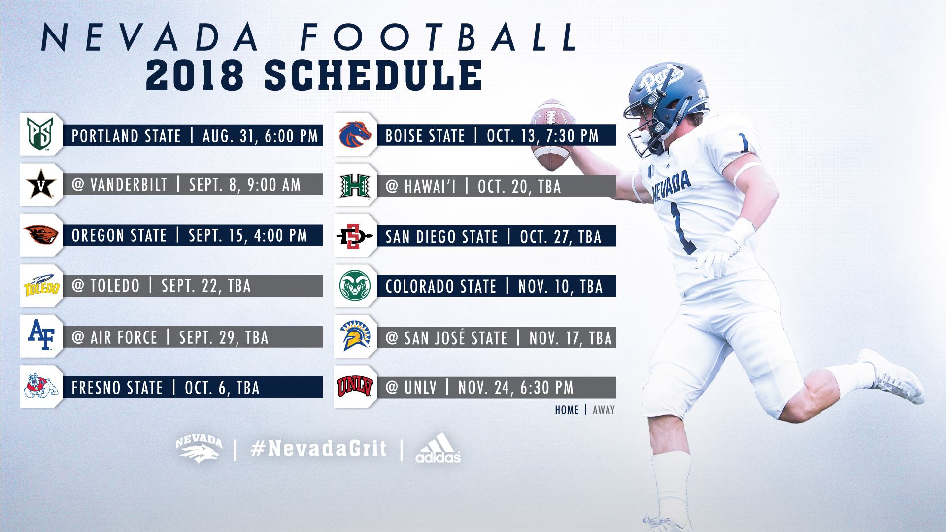 the 2018 nevada football schedule is here! - university of nevada