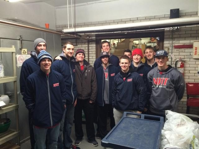 NJIT Baseball Volunteers At St. Annu0027s Soup Kitchen In Newark