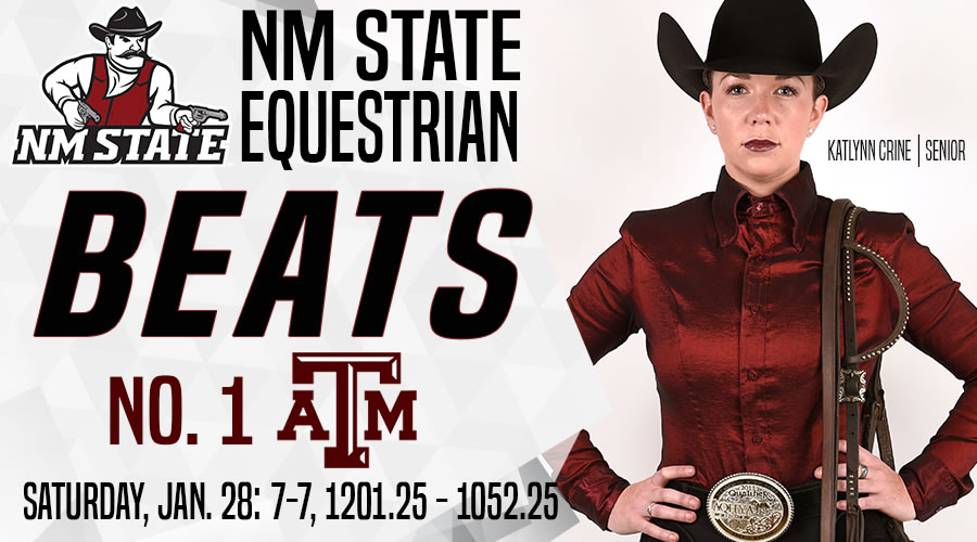 New Mexico State Athletics Equestrian Takes Down No 1