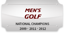 Men's Golf National Champions 2009, 2011, 2012