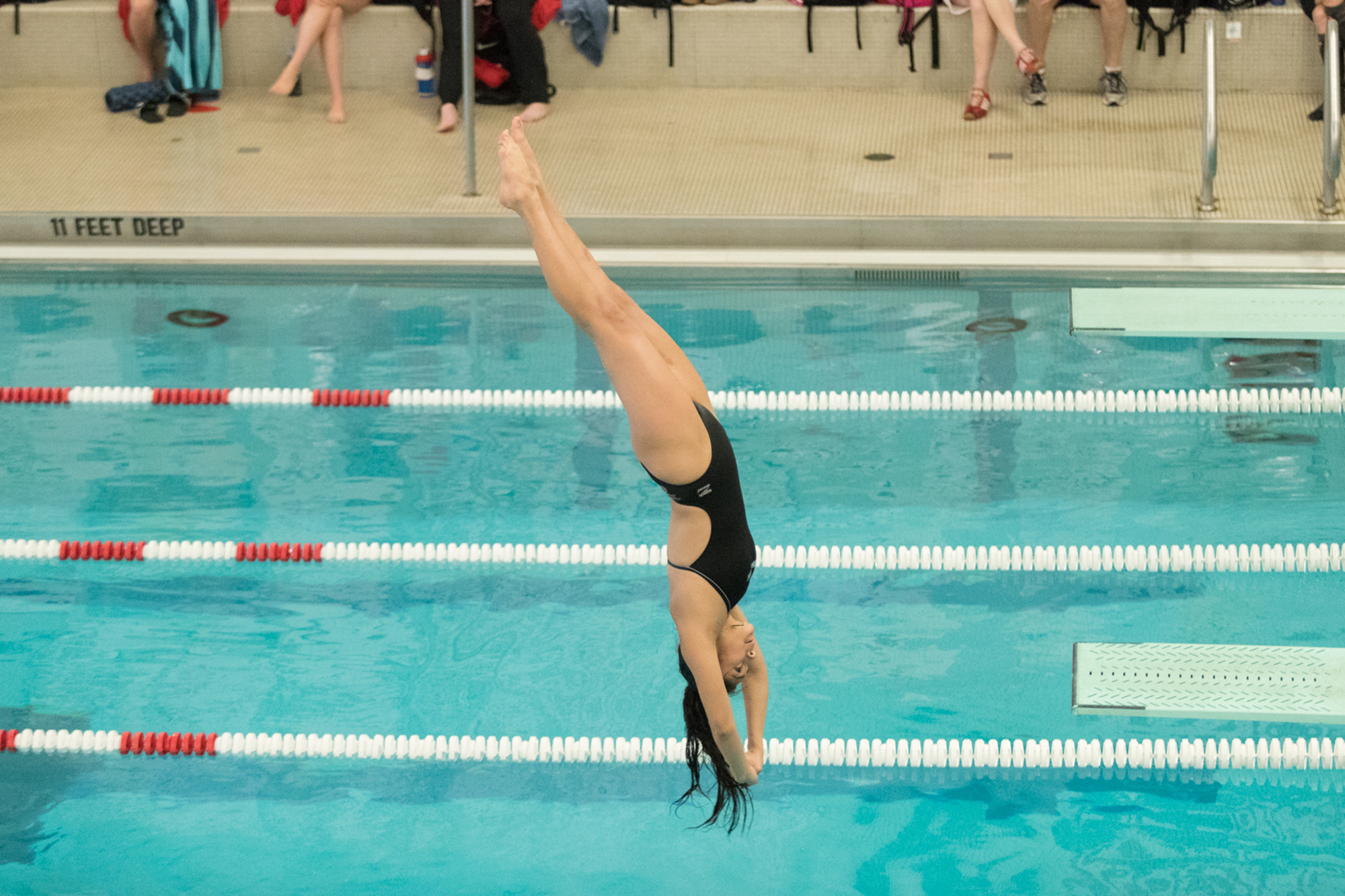 Women's Swimming and Diving drop meet to Cortland 166-131 ...