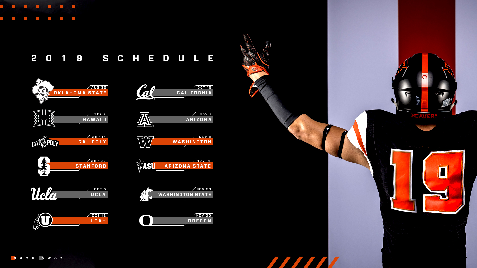 two prime-time games highlight 2019 schedule - oregon state
