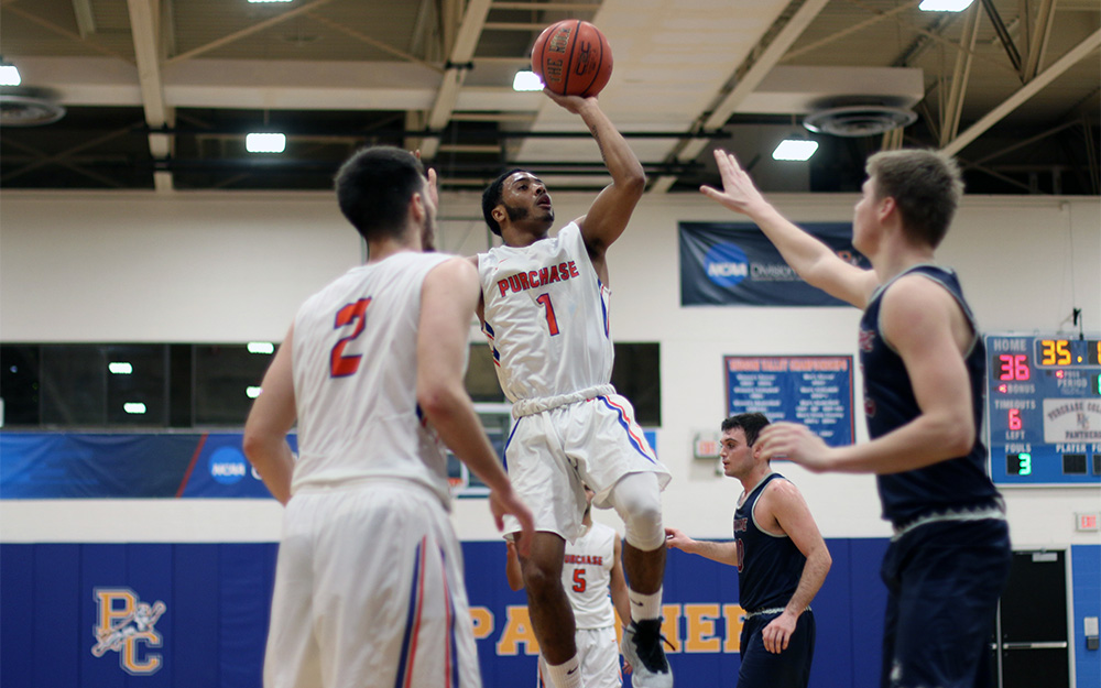 4d74be32f030 Purchase College - Men s Basketball Back to .500 with Win Over Maritime