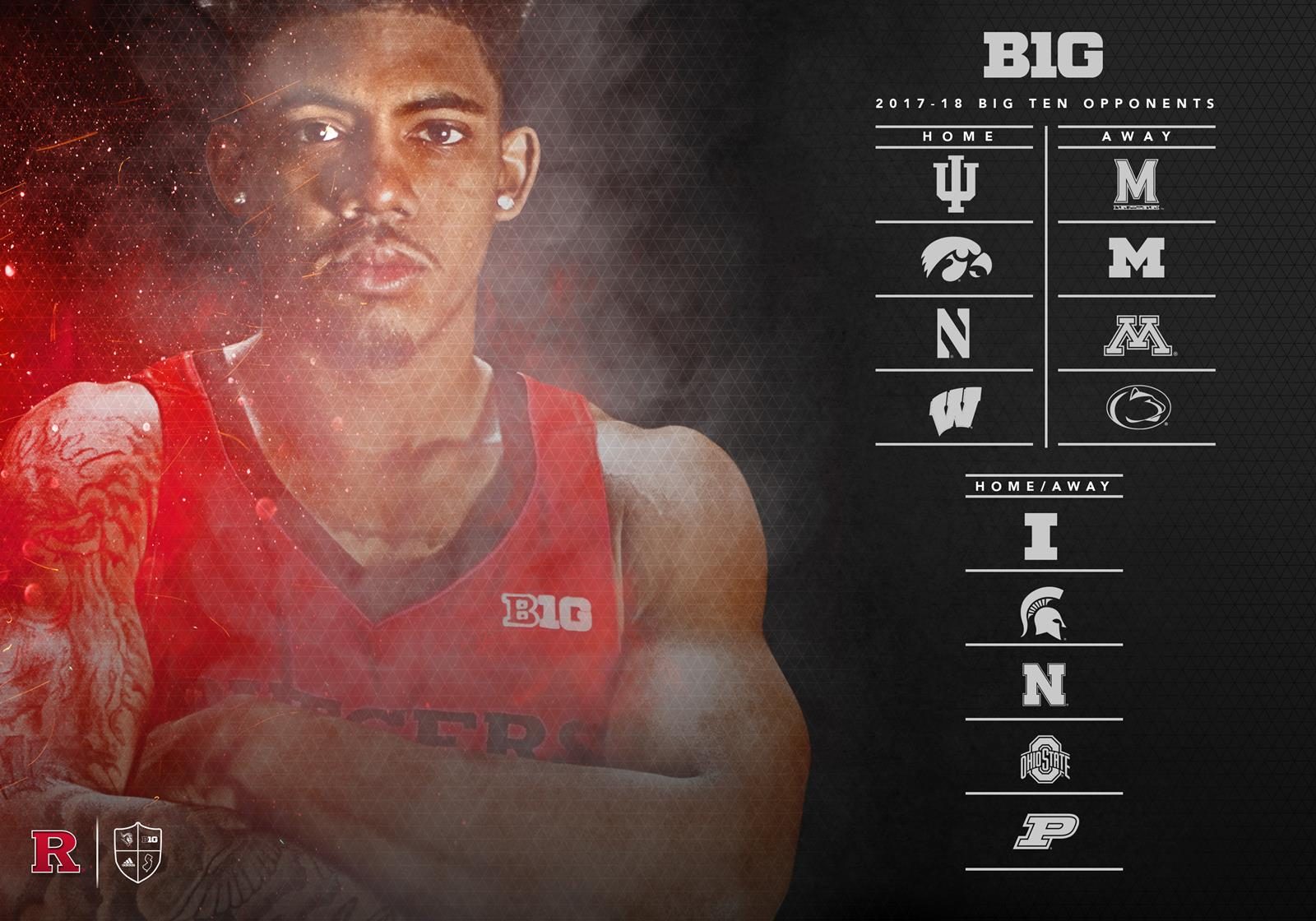 rutgers men's basketball announces nonconference slate, big ten