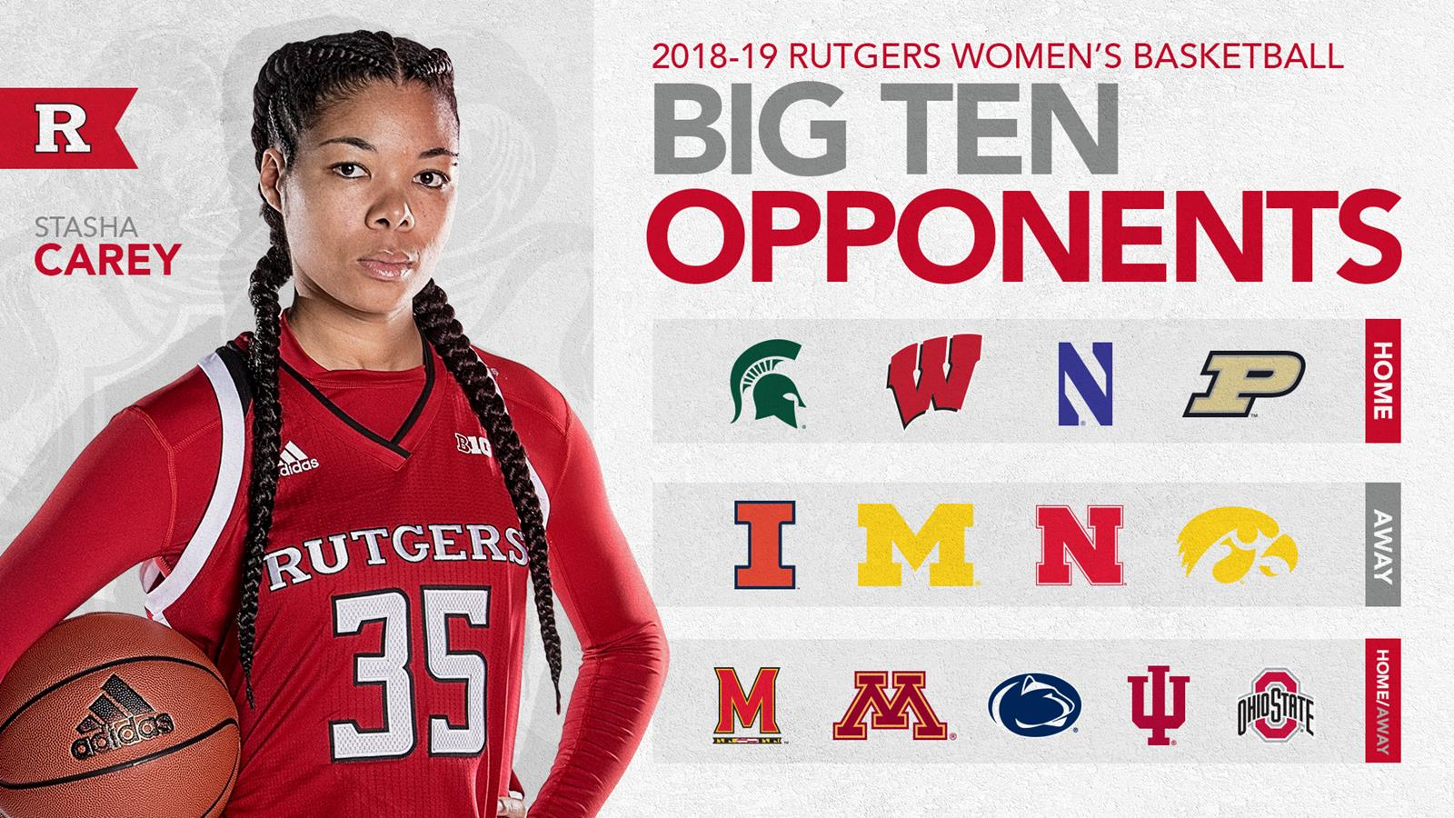 women's basketball announces 2018-19 b1g opponents - rutgers