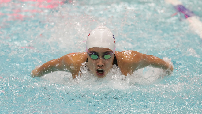 Record swims highlight day 1 of clan cup simon fraser university canada for Burnaby swimming pool schedule