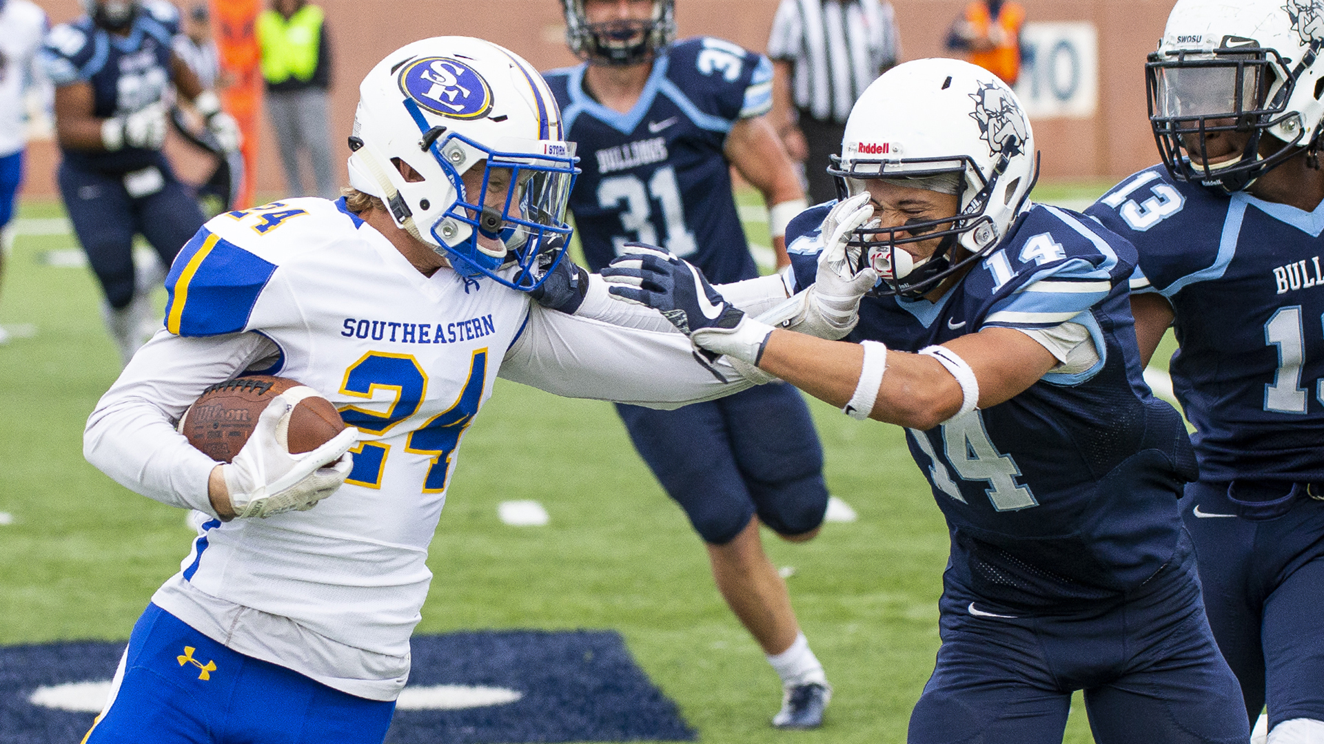 Bulldog Football Upended by Southeastern - Southwestern ...
