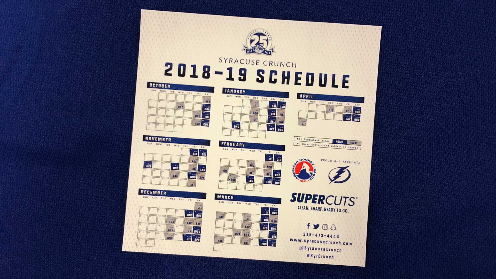 syracuse crunch to hold magnet schedule giveaway oct. 20 - syracuse