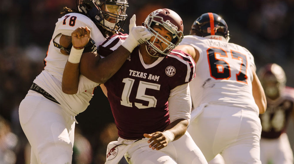 image 19. Thomas Campbell/Texas A&M Athletics. Myles Garrett