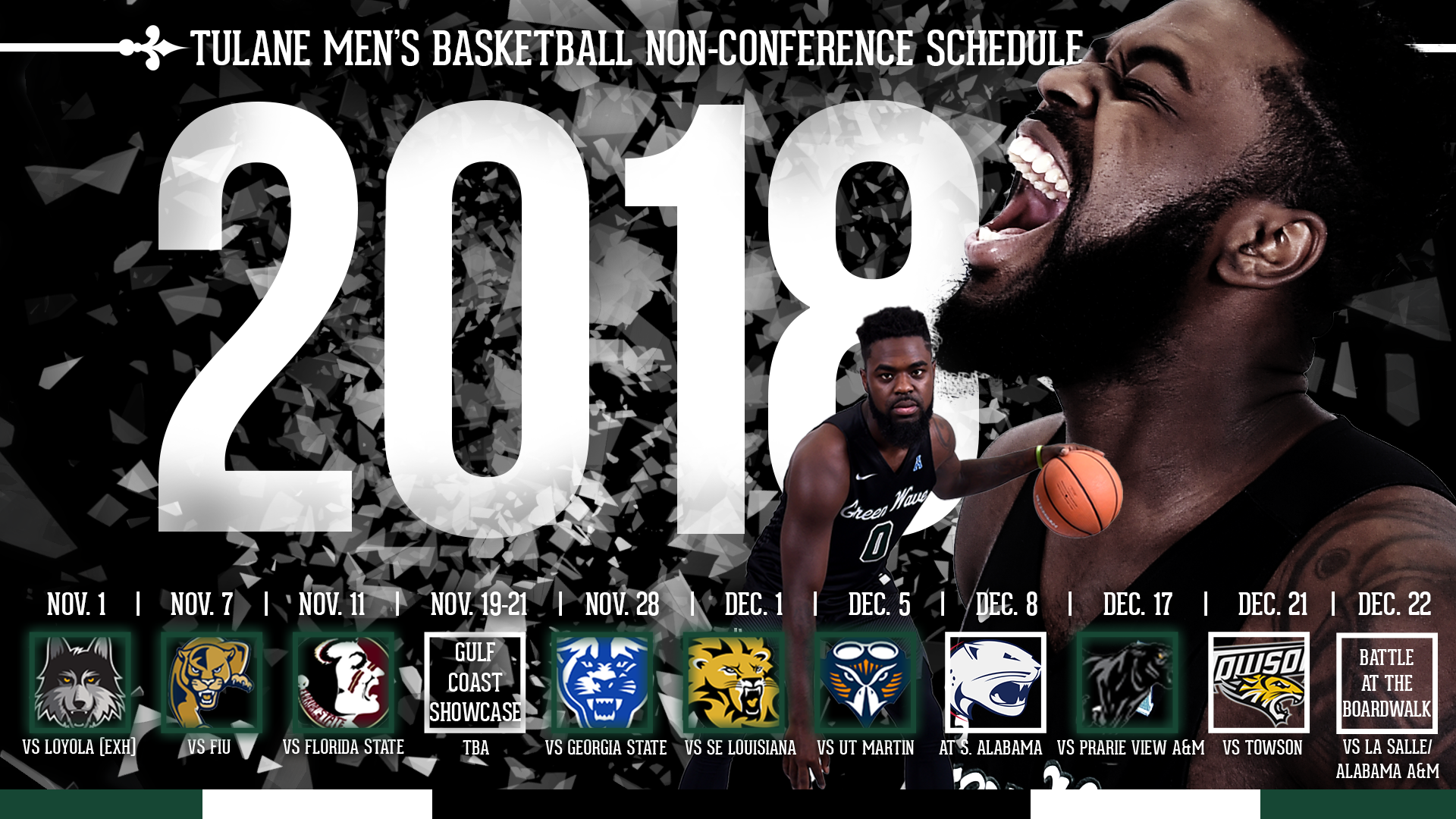 Tulane men's hoops schedule